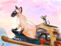 Juliet, the Siamese cat from children's book, Captain Juliet